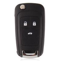 Wholesale Flip Folding Key Shell for Chevrolet Cruze Remote Key Case Keyless Fob Button Uncut HU100 Blade for Chevrolet LOGO included