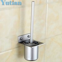 aluminium cup holder - Toilet Brush Holder solid Construction Base In Oxidation Finish Aluminium Cup bathroom Accessories YT