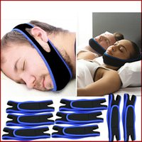 Wholesale Anti Snoring Chin Strap Neoprene Stop Snoring Chin Support Belt Anti Apnea Jaw Solution Sleep Device Health Care Snoring Cessation