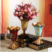 Wholesale 2016 upgraded resin vase with diamonds home decorative arts and crafts Christmas decoration room supplies to support the negotiated pric
