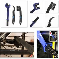 Wholesale 3 in Motorcycle Bicycle Chain Gear Cleaning Brush Grunge Cleaner Tool Set Cleaner Tools Kits