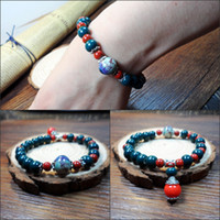 Wholesale Jingdezhen retro style of the national wind ceramic jewelry bracelet tourist attractions to sell hot stalls
