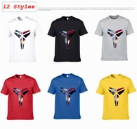 Wholesale Kobe Bryant Lakers Cartoon Print HOT Original Design Basketball Cotton Fashion Style Casual T shirt T shirt