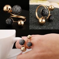 band balls - Ball Resin Little Golden Beans Ring Simple Jewelry Personality Punk Ring SIZE mm Retail For Women