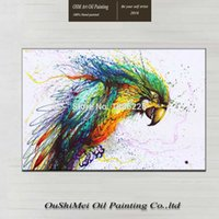 baby bird pictures - Most Popular Colorful Little Animal Bird Oil Painting On Canvas Hand painted watercolor Fine Art Baby Bird Oil Paintings