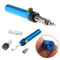 Wholesale New Blue Cordless Welding Pen Burner Butane Gas Blow Torch Soldering Solder Iron Gun H210819