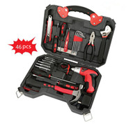 Wholesale 46pcs Hand Household Electric Tool Combination Combined Home Electric Tool Kit Domestic Portable Repairing Power Manual Tool Set