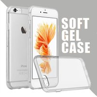 Wholesale For iPhone Plus s Plus s SE Cases Crystal Gel Case For iPhone Ultra Thin Transparent Soft TPU Clear Case