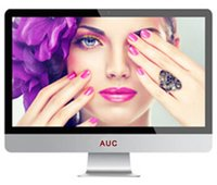 Wholesale 23 quot New LED All in one Computer CORE Quad core Fashionable Ultra thin Built in WIFI GB GB HD With Mouse And Keyboard