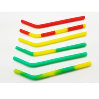Wholesale 10 x Custom Silicone Rubber Drinking Straw Silly Straws Silicone Reusable Smoothie Straws