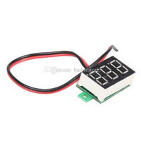 Wholesale Mini DC V Yellow LED Digital Display Voltage Voltmeter Panel Motor B00260 SMAD