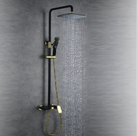 Wholesale Factory And Retail NEW Brass Water Pressure Bathroom Rainfall Shower Hot and cold Mixer Tub Faucet Shower Set