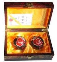 baoding china - 50mm Multifunctional fitness ball Shouxing blackBrand Originating in Baoding China Cloisonne Black Plum blossom pattern and retail