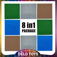 abs building materials - Hot selling products in USA dots ABS material toys for children Plastic building bricks blocks baseplate in package colors