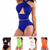 Wholesale 2016 Women Sexy Bandage Push up Bandeau Bikini Set Bathing Suit Swimwear Swimsuit