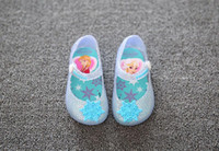 baby shoes slippers - 2016 Mini Melissa Girls Sandals kids shoes frozen Baby beach shoes Jelly shoes Cinderella s glass slipper D99
