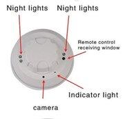 Wholesale Hot Q6B Night Visible Smoke Detector spy hidden camera DV DVR With Remote Control HD p recorder recording Mini Camcorders