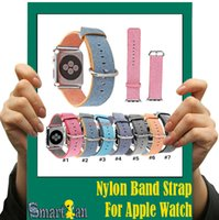 Cheap For Apple Watch Band Woven Nylon Band Best of Layers Wrist Bracelet Strap Watchband