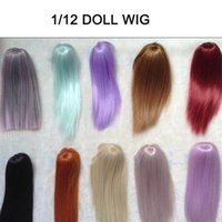 Wholesale New Arrival Dolls Accessories Various Colors CM CM Straight Handmade Kurhn BJD Doll Wig Hair