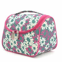 double vanity - Colorful Wome Makeup Vanity Case Mini Travel Bag Wash Double Zipper Box Storage For Teen Girls maletas de maquiagem