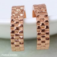 Wholesale Charm Fashion New Jewelry Accessories K real gold plated hoop Color Zircon Earrings Fashion Jewelry DANA E264