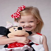 baby minnie birthday - Baby Cotton Big Bow Minnie Hair Clip Girls Bow Knot Hairspin Infant Lovely Barrettes Children Birthday Christmas Hair Accessories Colros