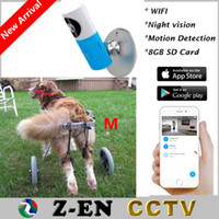 Wholesale Wireless Baba Eletronic Wifi IP Camera With GB SD Card IR CCTV Security Via Smart Phone With M Disable Dog Wheelchair Free