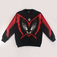 ape red - Marcelo burlon sweat ss red tide brand ape head printing large loose male long sleeved sweater