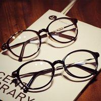 achat en gros de poids des lunettes de cadre-Femmes rondes lunettes ovales montures de lunettes haut de gamme poids léger solides Lunettes de couleur plaine de verres design rétro Classic vintage Eyeglas
