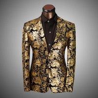 americana prints - 2016 Brand Clothing Men Blazer Chaqueta Americana Hombre Fashion Business Dress Slim Fit Outwear Suit Jacket costume homme suit