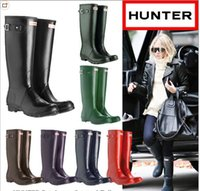 best waterproof winter boots - Best Quality Huner Rain boots for women rubber high hunter wellies Knee High Rain boots waterproof supply hunter boots sale
