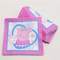 beverage napkins - Hot Sale Cute Little Pig Papers Napkins Cocktail Beverage Napkins for Kids Wedding Party Birthday Christmas Decoration