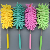 Wholesale Manufacturer of retractable dust duster chenille vehicle dust dust washing brush Mini duster