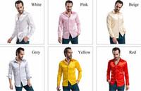 Cheap New Arrival fashion Custom Any Color Silk Like Satin Elastic Men Wear Shirts Groom Groom Wedding Slik Shirt For Men
