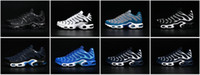 american football material - 2016 Racer AIR MAX Tn deep blue black nanotechnology KPU material durability without fracture Men running shoes