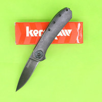 Wholesale Top quality BW Kershaw Amplitude pocket knife Assisted Opener knives NIB Rexford with Retail paper box package Black