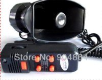 pa speaker - 100W Annunciator police siren in1 Tone car Siren megaphone with MIC Car speaker Loudspeaker AlarmMicrophone for PA system