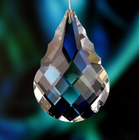 Wholesale 100 mm Gourd shape lighting pendant crystal trimming parts crystal chandelier hanging prism