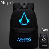backpack animation - Large Capacity Lumious Assassins Creed Backpack Hot Game Animation Fashion School Bag For Teenagers Travel Backpack Sack Mochila Escolar