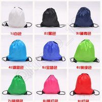 Wholesale 100PCS HHA791 Customize drawstring tote bags Drawstring Backpack folding creative promotion gift shopping bags colors