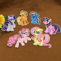 iron on patches for kids - 30pcs colors Amazing My Little Pony Horse Patch Embroidered Iron Sew on Patches Applique Badges stickers for Kids Cloth