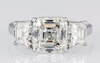 asscher cut engagement - 24 Asscher Cut Stone Stunning Diamond Engagement Ring GIA Platinum