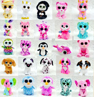 beanie boos cat - TY Beanie Boos dog cat penguin unicorn Stuffed Plush Animals one piece about cm Soft Mini lovely troll doll kids toy hot toy