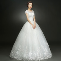 beautiful portraits - High quality new style wedding dress with diamonds and good lace elegant and beautiful wedding dress
