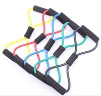 Resistance Bands   80 pcs lot Resistance 8 Type Expander Rope Workout Exercise Yoga Tube Sports free shipping