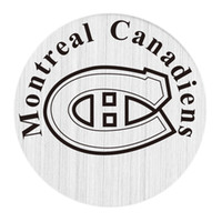 Wholesale Floating Charms Large Silver Window Plate fit Origami Owl Large Floating Living Locket The Love for Montreal Canadiens