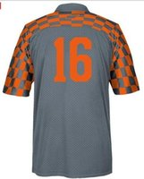 Wholesale Mens Tennessee Volunteers Peyton Manning Event Jersey Gray Size M L XL XL XL