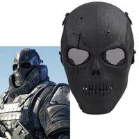 Cráneo al aire libre Paintball Esqueleto completo BB CS Cara Proteger la máscara de disparo cascos de espuma acolchada dentro del ojo cubierta del protector completo 2503054