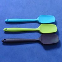 Wholesale Professional Baking And Pastry Tools One piece Design Eco silicone Butter Spatula Small Size Cooking Accessories YJ AMW u7