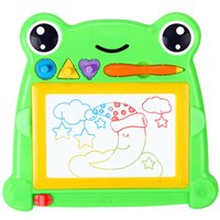baby gifts sketch - Kids Child Magnetic Drawing Board Toy Doodle Painting Writing Sketch Pad Baby Gift Stencils For Painting